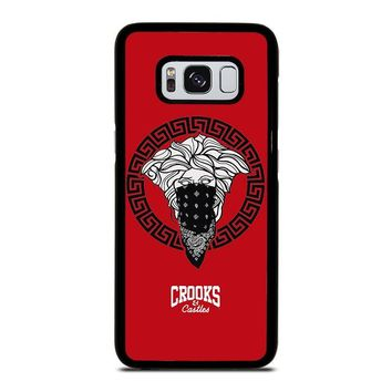 CROOK AND CASTLES BANDANA RED Samsung Galaxy S3 S4 S5 S6 S7 Edge S8 Plus, Note 3 4 5 8 Case Cover