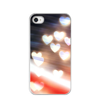 "iPhone Case - Patriotic Red White & Blue American Flag with Hearts - Fine Art Photography - ""A Love as Big as America"""