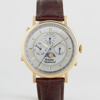 Vivienne Westwood Brown Leather Portland Watch VV164CHBR at asos.com