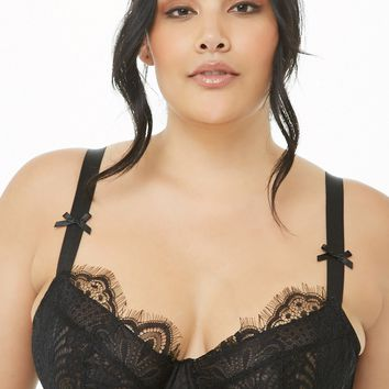 Plus Size Gabi Fresh x Playful Promises Sheer Lace Bra