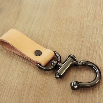 Leather Keychain Keyring Keyfob Leather key fob leather key chain  leather key holder (MC-16)