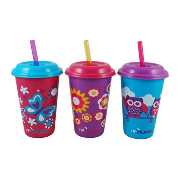 Reduce GoGo's Kids Cutie 3-pc. Straw Tumbler Set