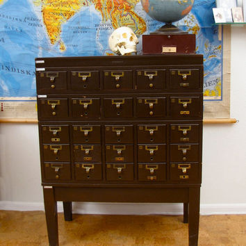 $1,400.00 Vintage Wooden Card Catalog by AustinModern