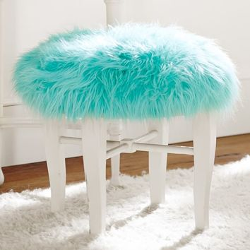 Himalayan Pool Glam Vanity Stool