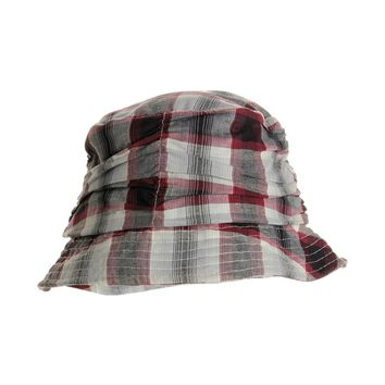 Womens Plaid Summer Bucket Hat