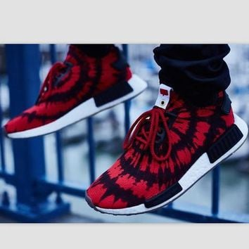 "Women ""Adidas"" NMD Boost Casual Sports Shoes Red black print"