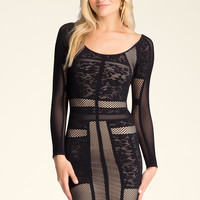 bebe Womens Harper Lace Dress