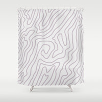 Abstract landscape Shower Curtain by printapix