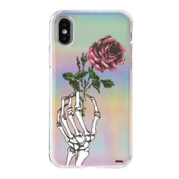 Holographic iPhone Case Cover - Crane Rose