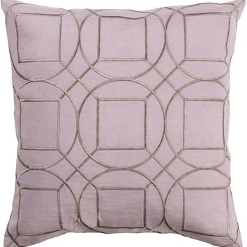 Skyline Throw Pillow Purple, Gray