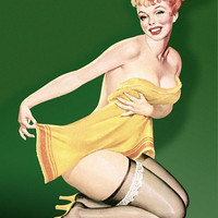 Pin Up Girl Redhead Pinup In Towel Poster