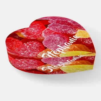 Red Candy Candies Glass Paperweight Valentine