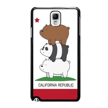 we bare bears california republic samsung galaxy note 3 case cover  number 1