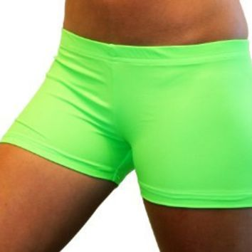 Solid Neon Spandex Compression Shorts in 3 Lengths