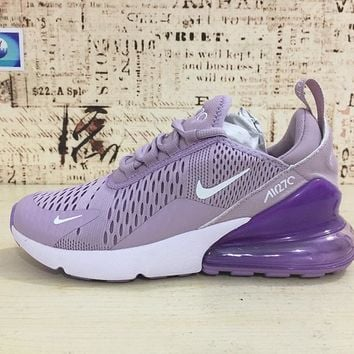Nike Air Max 270 Women Light Purple Sport Running Shoes - Best O 5666536de