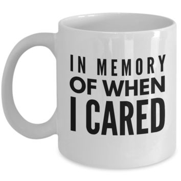 Funny - In Memory Of When I Cared (White)