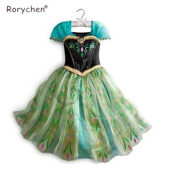 Girls Dress 2017 Summer Baby Princess Dress Elsa Anna Lace Children Clothing Dresses Party Wedding Cosplay Costume Kids Vestidos