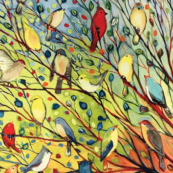Toland Home Garden Tree Birds 12.5 x 18 Inch Decorative Colorful Summer Fall...