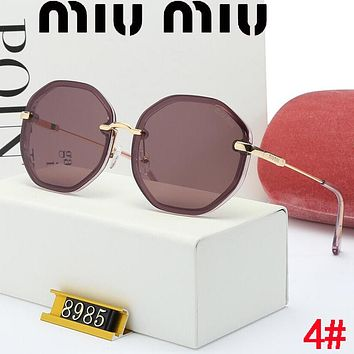 MIU MIU Stylish Women Casual Sun Shades Eyeglasses Glasses Sunglasses 4#