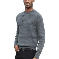 Banana Republic Mens Heritage Ribbed Button Pullover