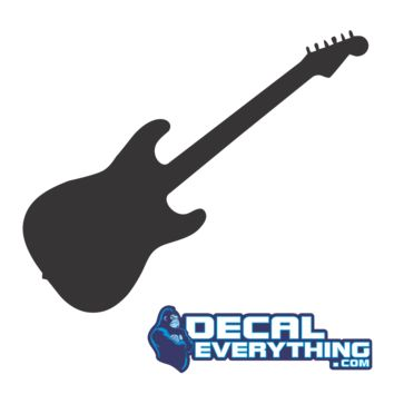 Electric Guitar Silhouette Decal - Music Decals