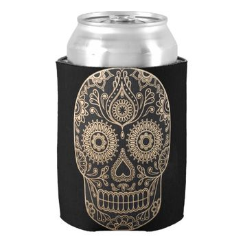 Day Dead Sugar Skull Can Cooler