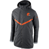 Cleveland Browns Nike Full Zip Down Parka – Charcoal