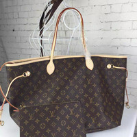 Louis Vuitton Neverfull Tote Bag w/Pochette (multiple prints and sizes available)