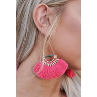 Nothing Greater Drop Earrings (Pink)