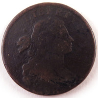 1798 Draped Bust Large Cent, 2nd Hair Style, U.S. Copper Coin, Colonial or Revolutionary Era Currency