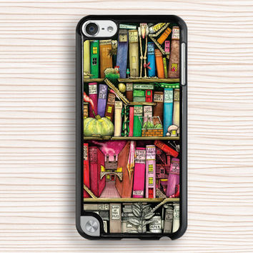bookshelf ipod case,art book ipod 4 case,vivid ipod 5 case,new design ipod touch 4 case,personalized ipod touch 5 cover
