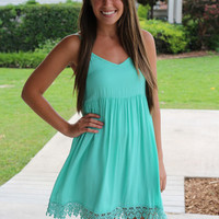 Babydoll Dress - Mint - Hazel & Olive
