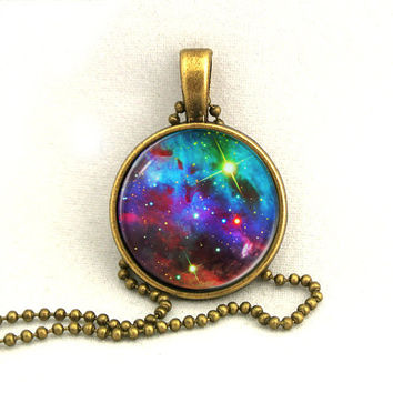 10 SALE Necklace Galaxy Shining Jewelry Universe by timegemstone