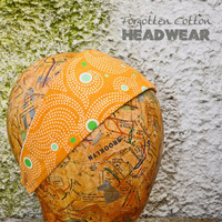 Summer Headband Reversible Stretchy Yoga Orange White