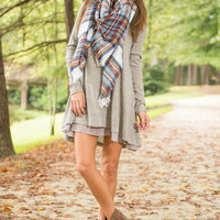 Lightly Layered Tunic, Gray