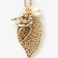 Dove Charm Necklace | FOREVER 21 - 1031556783