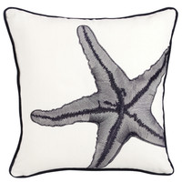 "Marina Starfish Pillow 18"" Square"