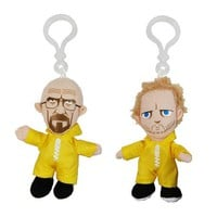 Breaking Bad Hazmat Suit Plush Key Chain Set - Mezco Toyz - Breaking Bad - Key Chains at Entertainment Earth