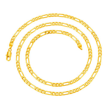 "Hot Sale Men's 18K Real Gold Plated 4mm 18 K  Italy Figaro Chain Necklace 24"" 60CM"