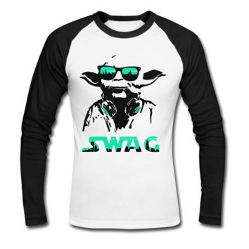 Yoda SWAG Men's Baseball T-Shirt - Men's Baseball Personalized T Shirts