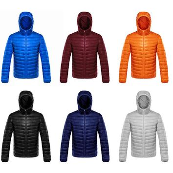 Ultra Light Winter Coat Mens jacket hooded windproof bubble style