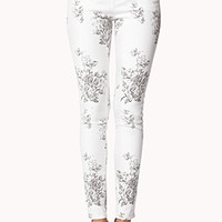 Life In Progress™ Rose Print Skinnies