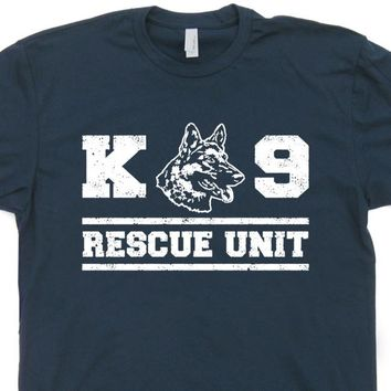 K9 Unit T Shirt Rescue Dog T Shirt German Shepherd T Shirt Vintage Fireman Shirt