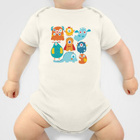 Aliens and monsters pattern Baby Clothes by Maria Jose Da Luz