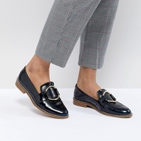 ASOS DESIGN Magenta Leather Loafers at asos.com