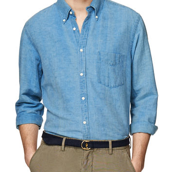 Indigo Linen E-Z Button Down
