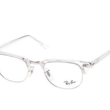 Glasses vista Ray-Ban RX5154 CLUBMASTER 2001 WHITE TRANSPARENT Cal.49