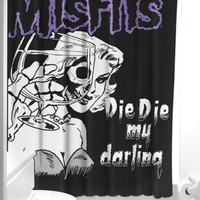 Sourpuss Misfits Darling Shower Curtain