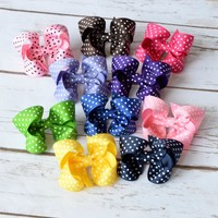 These sweet 3 inch swiss dot bows are available in 32 colors. Hair bows for girls, toddlers and baby girls. Your Final Touch Hair Accessories