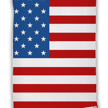 "USA Flag AOP Micro Terry Sport Towel 11""x8"" All Over Print"